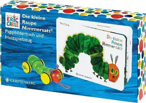 Die kleine Raupe Nimmersatt - Geschenkset Pappbilderbuch mit PlanToys®-Holzraupe