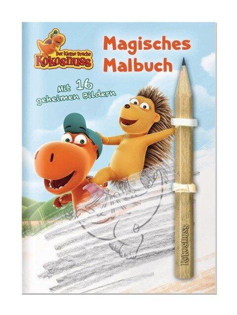 Der kleine Drache Kokosnuss - Magisches Malbuch mit Bleistift -