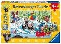 Urlaub mit Maulwurf und seinen Freunden. Puzzle 2 x 24 Teile -