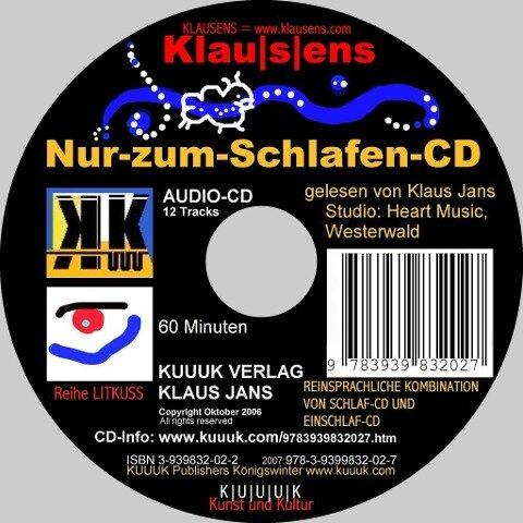 Nur-zum-Schlafen-CD - Klaus Jans