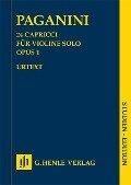 24 Capricci für Violine solo Opus 1 - Nicolò Paganini