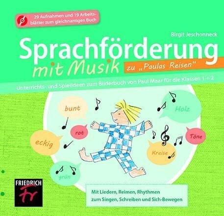 """Sprachförderung mit Musik zu """"Paulas Reisen - CD Extra - Birgit Jeschonneck"""