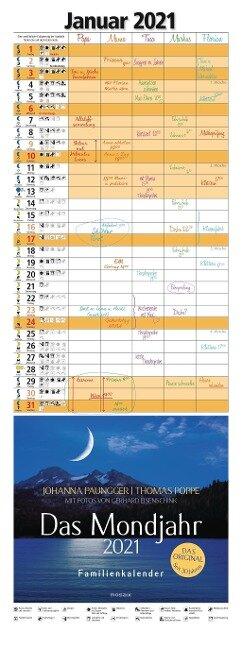 Das Mondjahr 2021 Familienkalender - Johanna Paungger, Thomas Poppe