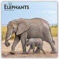 Elephants - Elefanten 2019 - 18-Monatskalender -