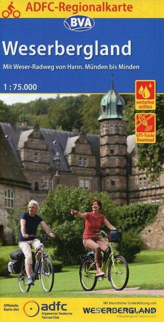 ADFC-Regionalkarte Weserbergland, 1:75.000