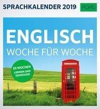 PONS Sprachkalender 2019 Englisch Woche für Woche -