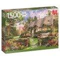 Sonniges Cottage - 1500 Teile Puzzle -