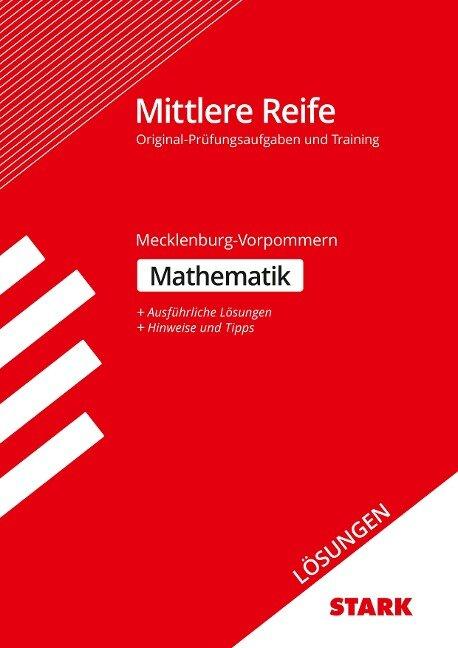 Lösungen zu Training Abschlussprüfung Mittlere Reife - Mathematik - Mecklenburg-Vorpommern -