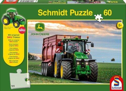 John Deere. Traktor Puzzle 60 Teile und SIKU Traktor -