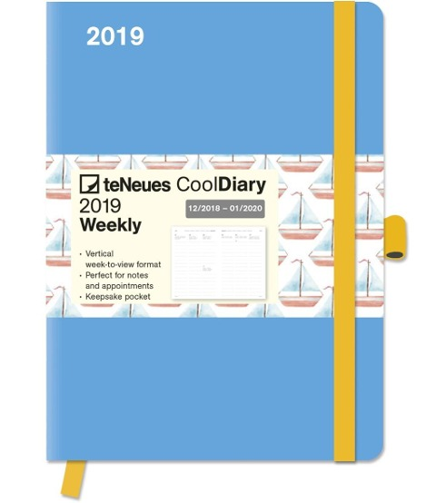 Cool Diary Lightblue/Boat 2019 groß -