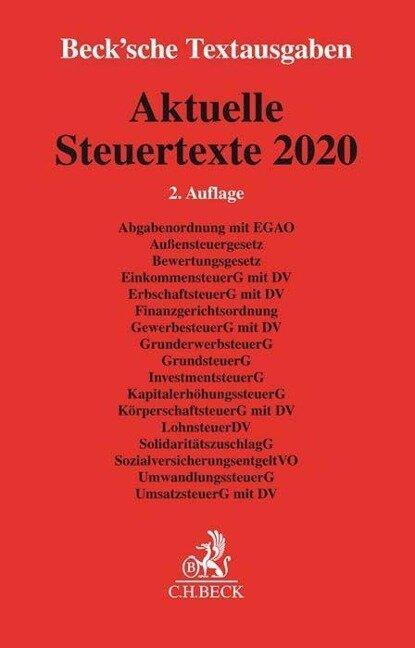 Aktuelle Steuertexte 2020 -