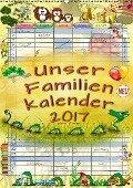 Unser Familienkalender 2017 (Wandkalender 2017 DIN A2 hoch) - Peter Roder