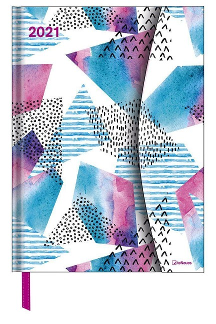 Watercolors 2021 Taschenkalender 16x22 -