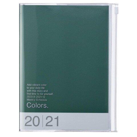 MARK'S 2020/2021 Taschenkalender A5 vertikal, COLORS Green. -