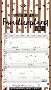 Familienplaner Metallic Glam 2021 -