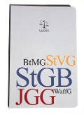 StGB (Strafgesetzbuch), EGStGB (Einführungsgesetz zum StGB), JGG (Jugendgerichtsgesetz), BtMG (Betäubungsmittelgesetz), WaffG (Waffengesetz) -