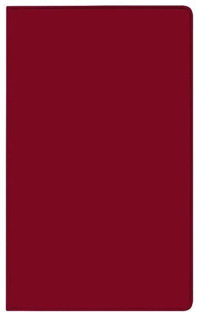 Taschenkalender Modus geheftet PVC burgund 2022 -