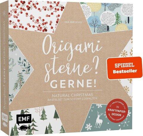 Origamisterne? Gerne! - Natural Christmas - Weihnachtliches Bastelset zum Sofort-Losfalten - Ina Mielkau