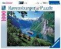 Norwegischer Fjord. Puzzle 1000 Teile -