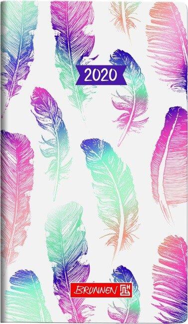 Brunnen Taschenkalender/ Sichtkalender 2020 Grafik, Federn -