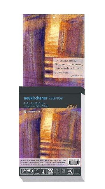 Neukirchener Kalender 2022 Großdruck-Abreißkalender -