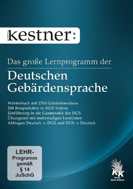 Das große Lernprogramm der Deutschen Gebärdensprache -