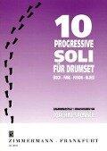 Zehn progressive Soli. Drumset -