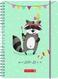 BRUNNEN Schülerkalender 2019/20 Racoon -
