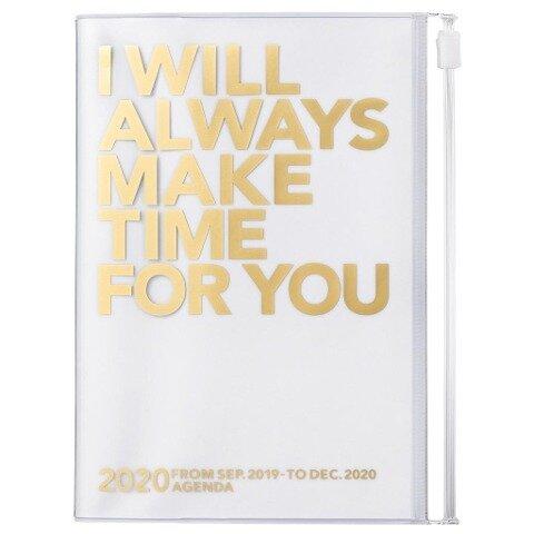MARK'S 2020 Taschenkalender A6 vertikal, MAKE TIME Gold -