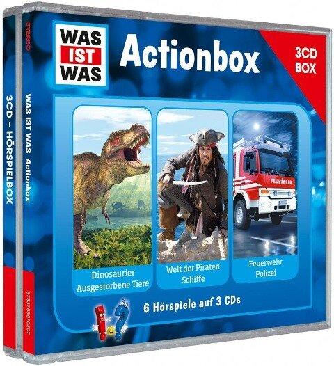 """WAS IST WAS 3-CD-Hörspielbox """"Action und Abenteuer"""" - Manfred Baur, Matthias Falk, Günther Illi"""