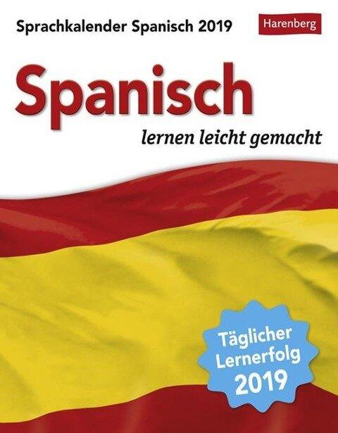 Sprachkalender Spanisch 2019 - Sylvia Rivero Crespo, Steffen Butz