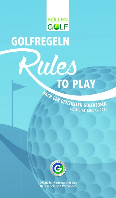 Golfregeln - Rules to play -