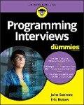 Programming Interviews for Dummies - Eric T. Jones, Eric Butow