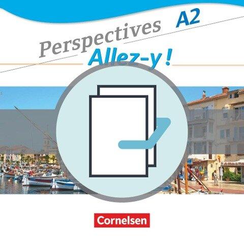 Perspectives - Allez-y ! A2 - Kurs- und Übungsbuch und Sprachtraining im Paket - Anne Delacroix, Martin B. Fischer, Fidisoa Raliarivony-Freytag, Gabrielle Robein, Annette Runge