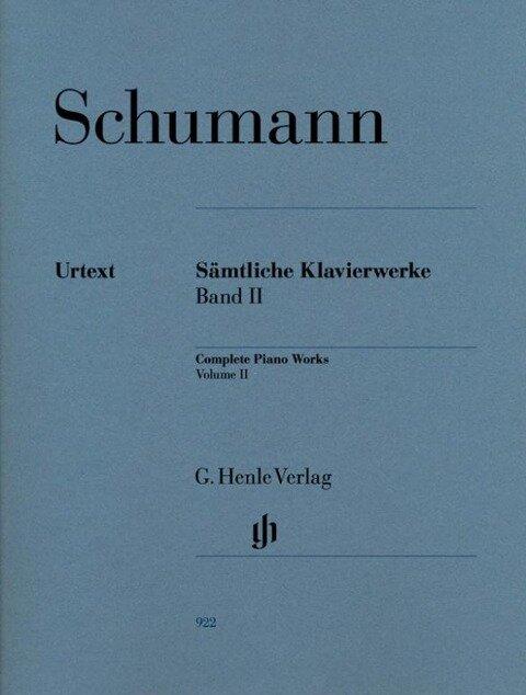 Sämtliche Klavierwerke 2 - Robert Schumann