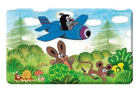 Trötsch Der kleine Maulwurf Frühstücksbrettchen Flugzeug -