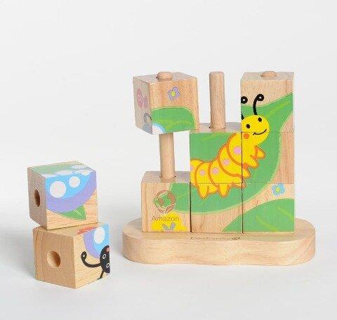 Stapelpuzzle, Von der Raupe zum Schmetterling -