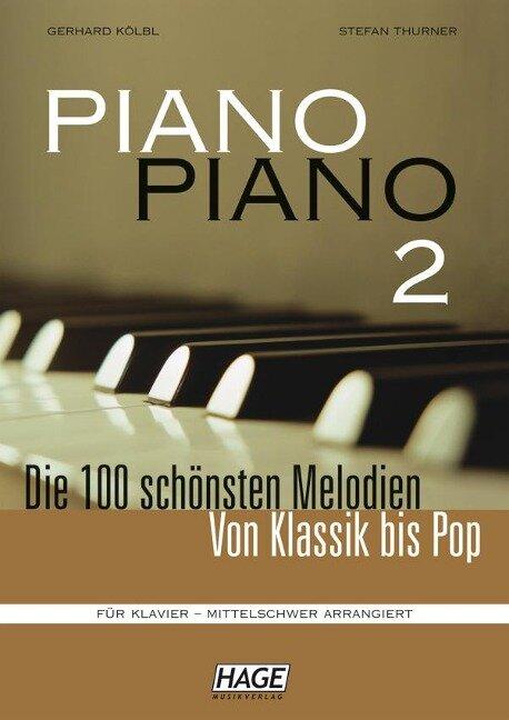 Piano Piano 2 mittelschwer (mit 4 CDs) -