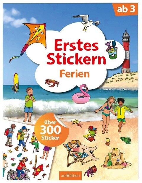 Erstes Stickern Ferien -
