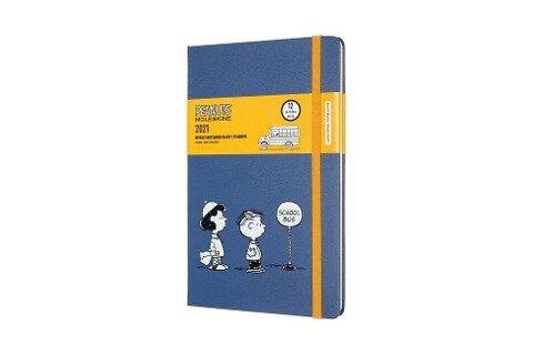 Moleskine 12 Monate Wochen Notizkalender 2021, Peanuts Large/A5, Fester Einband, Bus -