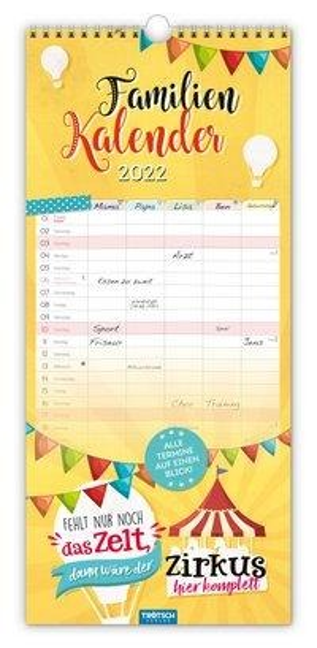 """Familienkalender """"Einfach glücklich..."""" 2022 -"""