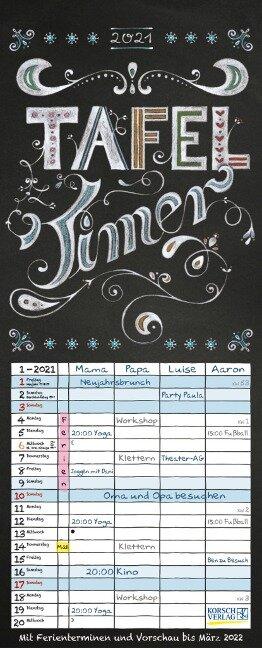 Tafel Timer 2021 -