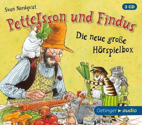 Pettersson und Findus - Die neue große Hörspielbox (3 CD) - Sven Nordqvist, Frank Oberpichler, Dieter Faber