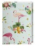 Tropical Flowers Kalenderbuch A6 - Kalender 2018 -