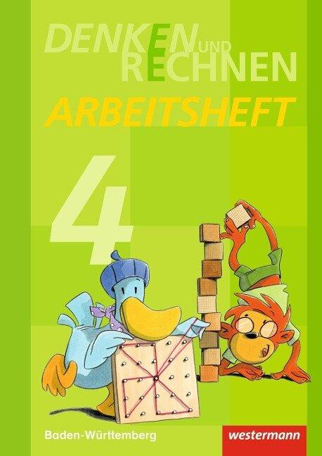 Denken und Rechnen 4. Arbeitsheft. Grundschulen. Baden-Württemberg -