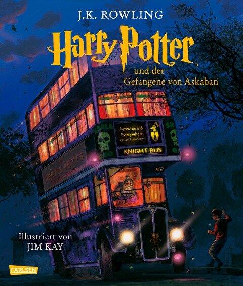 Harry Potter 3 und der Gefangene von Askaban (farbig illustrierte Schmuckausgabe) - J. K. Rowling