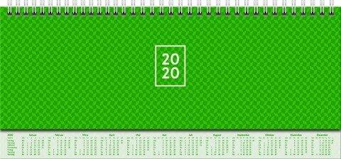 Brunnen Querterminkalender 2020, Modell 772 grün -