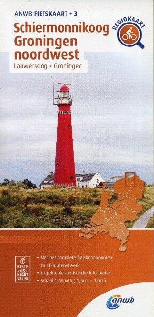 Schiermonnikoog Groningen noordwesr (Lauwersoog/ Groningen) 1:66 000 -