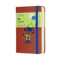 2018 Moleskine Peanuts Limited Edition Coral Orange Pocket Daily Diary 12 Months Hard -