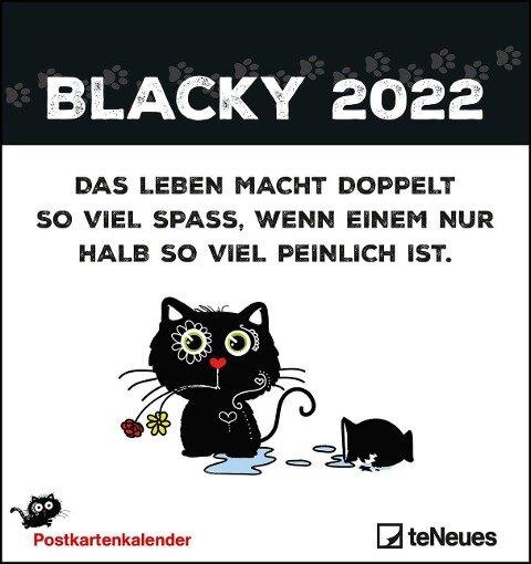 Blacky 2022 Postkartenkalender -